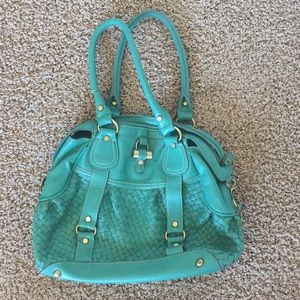 Teal Melie Bianca shoulder bag.